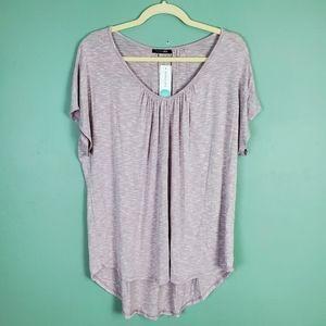 Papermoon Ines Knit Purple Short Sleeve Top XL